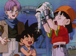 Trunks, Son Goku et Pan